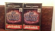 THE BEE GEES cassette tape album lot x2 bee gees bonanza vol 1 .vol 2 .tested