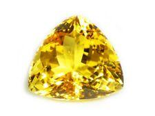 GOLDEN CITRINE TRILLION 14.67 CTS - 14265 NATURAL SRI LANKA LOOSE GEM
