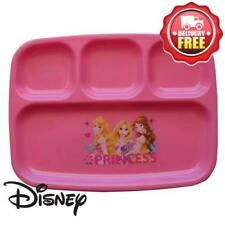 Disney Princess Sectioned Plate Reusable Plastic Dinner Plate New Licensed BPA f