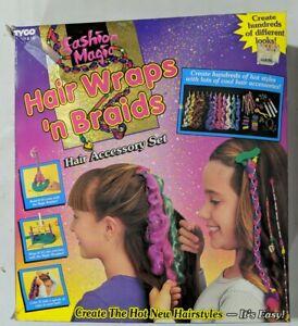 New! Hair Wraps 'n Braids Hair Accessory Set - Vintage 1996