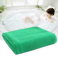 1x Absorbent Microfiber Dry Bath Beach Towel Wash cloth Swimwear Shower Green ZH