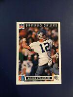 1991 Upper Deck #43 ROGER STAUBACH Dallas Cowboys DOMINOS PIZZA RARE LOOK !