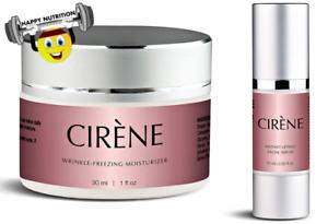 CIRENE Anti Aging Wrinkle Freezing Moisturizer 1oz & Instant Lifting Serum .50oz