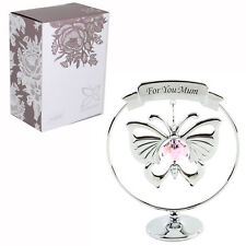Crystocraft Gift With Butterfly & Swarovski Crystal - For you Mum