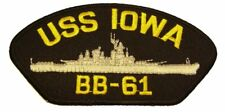 USS IOWA BB-61 PATCH USN NAVY SHIP BATTLESHIP GREY GHOST BIG STICK KOREA WAR