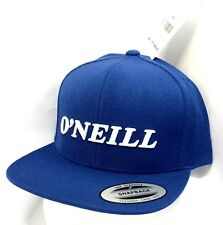 New with Tags Men's O'Neill Blue Classic Stitch Adjustable SnapBack Trucker Hat