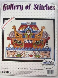 Bucilla Gallery of Stitches Cross Stitch Kit 33291 Noah's Ark with Frame Sealed