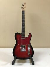 Chitarra Telecaster Standard Clone Fender 6 Corde Nero Rosso Nuovo