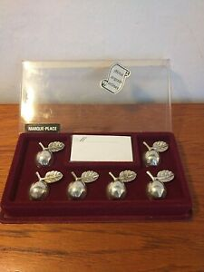 VINTAGE FRENCH SILVERPLATED APPLE NAME PLACE SETTINGS