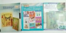 Rubber Stamp Idea Books and Instructions Lot Of 3 Stamping Tutorials