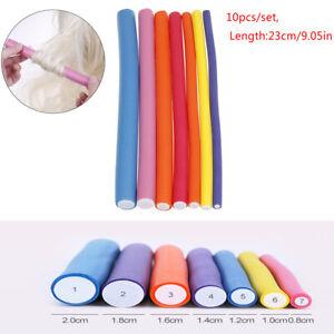 10pcs/Lot Sponge Hair Curler Roller Curl Bendy Roller Magic Hair Curlers Tool.TU