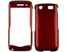 Hard Plastic Red Phone Protector Case Cover for BlackBerry Pearl 3G 9105