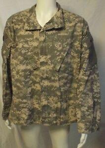 US Military Army ACU Digital Camo UCP Combat Uniform Ripstop Jacket Shirt