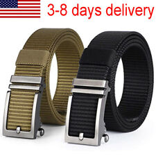 Mens Automatic Buckle Nylon Durable Web Belt Military Casual Jean Belt Unisex