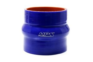"""HPS 4"""" ID , 3"""" Long High Temp 4-ply Silicone Hump Coupler Hose Blue (102mm ID ,"""
