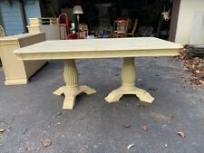 Wood Dining Room Set With Table, 2 Leafs, 6 Chairs, China Clost, and Side Server