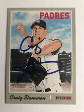 2019 Topps Heritage Craig Stammen #151 Auto Signed Autograph Padres
