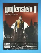 WOLFENSTEIN II Mini Standee Counter Store Display RARE Promo UNUSED!