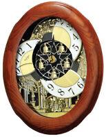 Rhythm Clocks Joyful Nostalgia Oak Musical Wall Clock (4MH852WD06)