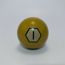VINTAGE Antique BRUNSWICK HEXAGON Clay Billiard Pool Ball #1