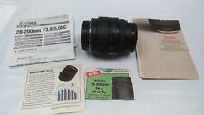 Sigma UC Zoom 28-70mm 1:3.5-4.5 Multi Coated Japan Made Lens Minolta Mount