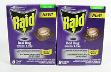 2 Raid Bed Bug Detector & Trap = 16 traps Travel or Home Read