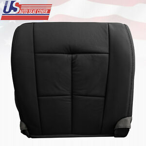 2007-2012 Lincoln Navigator Passenger Bottom Perforated Leather Seat Cover Black