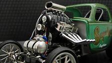 Vintage Dragster w 1969 Chevy V8 1 Hot Rod 12 Drag Race Car 18 Carousel Green 24