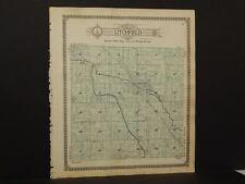 Michigan Hillsdale County Map Litchfield or Allen Township 1916  Dbl Side  Y9#87
