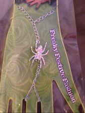 *~New Spider Halloween Emo Alternative Grunge Gothic Slave Bracelet