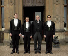 Downton Abbey -L6675- Jim Carter, Rob James-Collier, Ed Speleers and Matt Milne