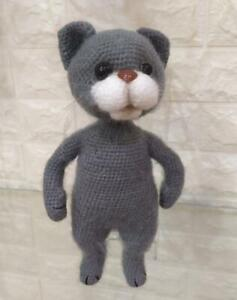 Crochet cat, handmade soft toy, crochet cat, plush cat