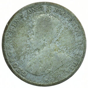 COIN / CEYLON / 10 CENTS 1921 SILVER GEORGE V BEAUTIFUL COIN  #WT30120