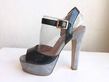 STEVE MADDEN Patent Leather Blue Dynemite Platform Heels size 6 M $145