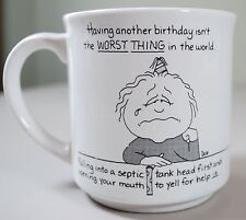 Recycled Paper Products BARBARA DALE Birthday Coffee Mug - Septic Tank Humor