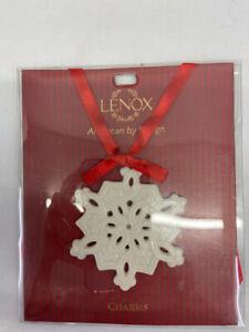 Lenox Charms Snowflake Ornament Ceramic NIP