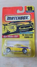 Matchbox 1996 Superfast 'New Model '68 MUSTANG COBRA JET' *NIP* #69 of 75