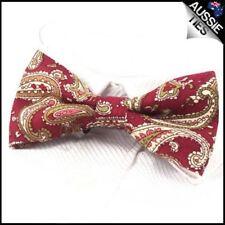 Men's Dark Red Paisley Bow Tie