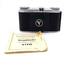 :Voigtlander Vito w/Skopar 5cm f3.5 in Prontor ll W/ original instructions