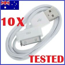 10Pack USB Sync Cable Charger for Apple iPhone 4 4S 3GS iPod Touch iPad (White)