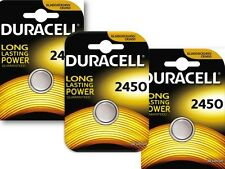 10 x DURACELL DL2450/ECR2450 CR2450 PILE BOTTONE LITIO BLISTER BATTERIE