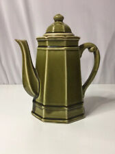 Vintage Stone Craft by Royal Sealy Japan Green Ceramic Coffee Pot