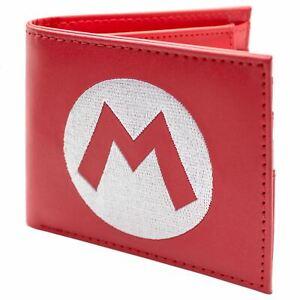 Official Nintendo Super Mario Hat Logo Red Coin & Card Bi-Fold Wallet *SECOND*