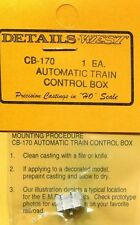 HO SCALE:  DETAILS WEST  170:  AUTO TRAIN CONTROL BOX: HOOD UNITS