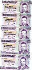 LOT Burundi, 5 x 100 Francs, 2011, P-44, UNC > Reduced Size Issue