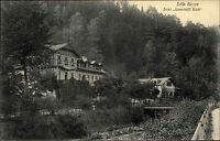 Edle Krone Sachsen Sächsische Schweiz AK ~1910 Hotel Unverhofft Glück ungelaufen