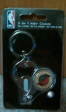 NBA Portland Trail Blazers 3 in 1 Keychain Nail Clipper Bottle Opener Free Ship