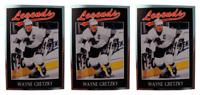 (3) 1991 Legends #1 Wayne Gretzky Hockey Card Lot Los Angeles Kings