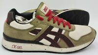 Asics Gel 2 Suede/Nylon Trainers H310N Olive/Dark Brown/Cream UK6/US8/EU40.5