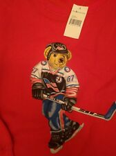 Authentic NWT Vintage Polo Bear Sweatshirt by Ralph Lauren Polo Sport  Red XL